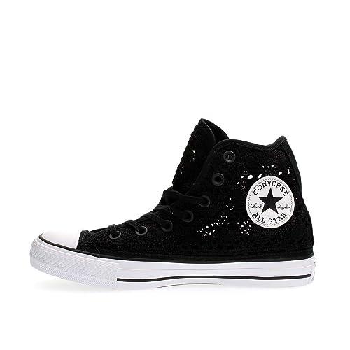 Converse All Star Chucks Sneaker Scarpe Da Ginnastica High Taylor in tessuto NERO MIS. 55/