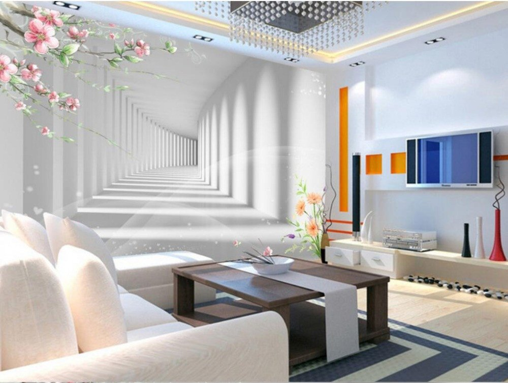[Customize,Contact Us], 3D Flower Fashion Waterfront 3D Extension Space Photo 3D Wallpaper Living Room Bedroom Tv Background Wall 3D Wallpaper,By ZLJTYN B07F42NDD9 [customize,contact us]