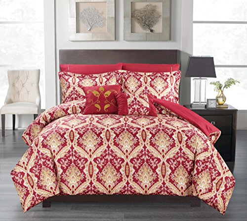 Peach Couture Home Collection Royal Boho Reversible 7 Pie...