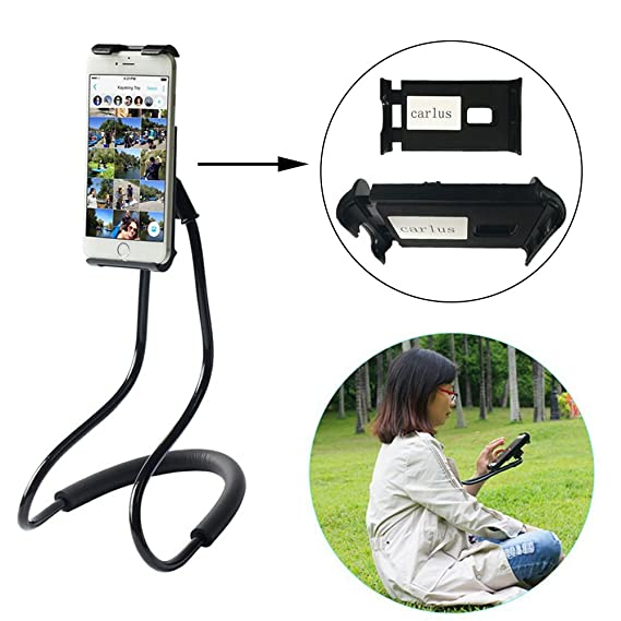 pretty nice a374c 50812 Lazy Neck Phone Holder Flexible Cell Phone Holder Bed Stand Long Arm Lazy  Bracket DIY Free Rotating Stand with Multiple Function for iPhone 8 7 X 6S  6 ...