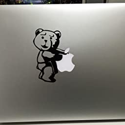 Amazon カインドストア Macbook Air Pro 11 13インチ マックブック ステッカー シール テッド Ted Bear クマ 熊 くま テディ ベア ホワイト M443 W カインドストア ノートパソコンスキンシール 通販