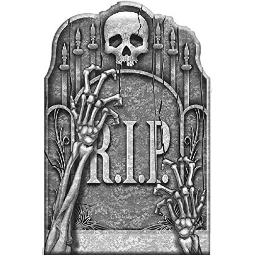 Amscan |  Party Decoration | Halloween Cemetery Ghostly Arms Tombstone | Measures 22