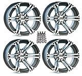 ITP SS212 ATV Wheels/Rims Machined 12'' Arctic Cat TBX TRV MudPro