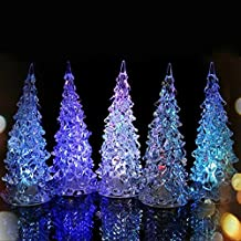 1pc Creative Crystal Night Light Lamp Color Changing LED Christmas Tree Decoration Light Xmas Night Light