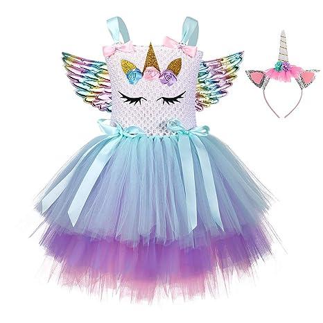 FENICAL - Disfraz de Unicornio - Conjunto de Falda y Vestido de ...