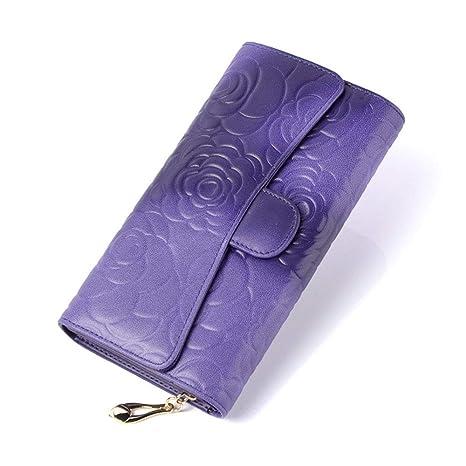 Monedero Clutch Mujer Cartera de cuero del bolso de embrague ...