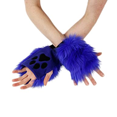Amazon Com Pawstar Color Theme Pawlets Fingerless Glove Paws Furry