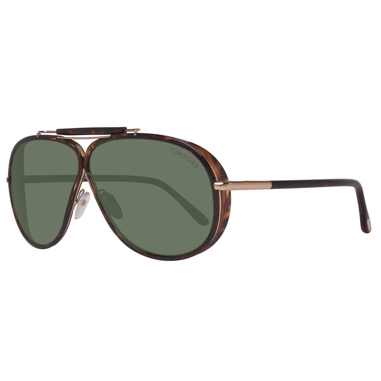 6f21b1529 Tom Ford Sunglasses 0509 Cedric 52N Dark Havana Green at Amazon Men's  Clothing store: