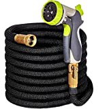 50ft Expandable Garden Hose - IMPROVED Expanding Hose with Double Latex Core, 3/4