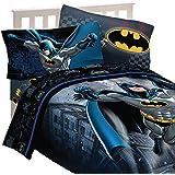 5pc DC Comics Batman Full Bedding Set Guardian Speed Comforter and Sheet Set