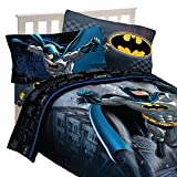 4pc DC Comics Batman Twin Bedding Set Guardian Speed Comforter and Sheet Set