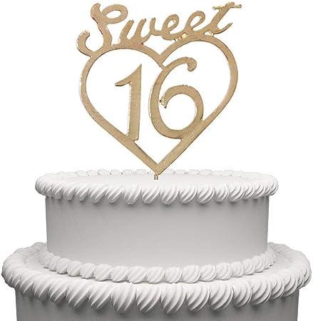 Anniversario Di Matrimonio 16 Anni.Sweet 16 Cake Topper Per 16 Anni Compleanno O Per Il