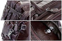 Genuine Leather Tote Briefcase Business Laptop Shoulder Messenger Bag Backpack Convertible Laptop Rucksack