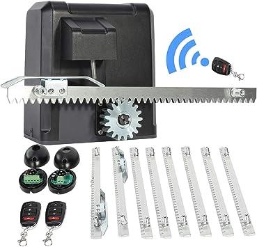 UROK - Kit de automatización de puerta corredera con mando a distancia, motor eléctrico para abrir puertas automáticas, operador de 600 kg, kit Arm Swing Gate Opener 200 W: Amazon.es: Bricolaje y herramientas