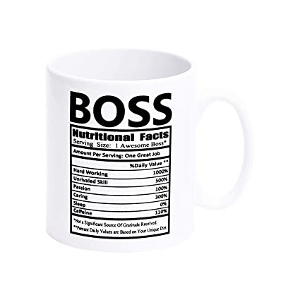 cddfceff111 Image Unavailable. Image not available for. Color: Boss Nutritional Facts  Coffee Mugs ...