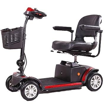 Coche Eléctrico De Cuatro Ruedas para Discapacitados, Carro Eléctrico, Silla De Ruedas, Silla Plegable Eléctrica Vieja, Scooter Eléctrico: Amazon.es: ...