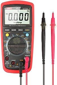 Uni-t Ut139C 5999 Count True RMS LCD Digital Auto Range Multimeter AD/DC Voltage Current Tester with Resistance Capacitance NCV Test and Temperature Measurement