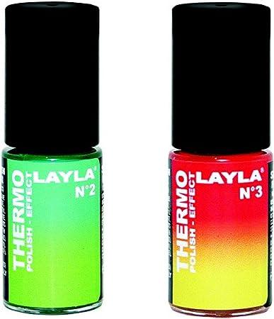 Layla térmica esmalte de uñas Duo Pack N ° 1: Amazon.es: Belleza