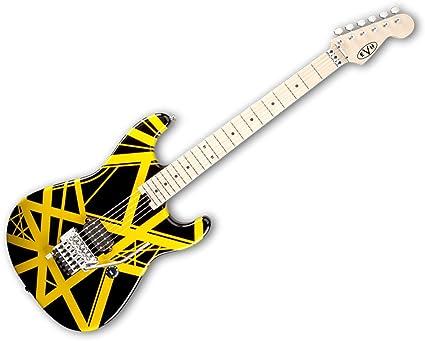 EVH rayas Series Guitarra eléctrica – negro con amarillo rayas ...