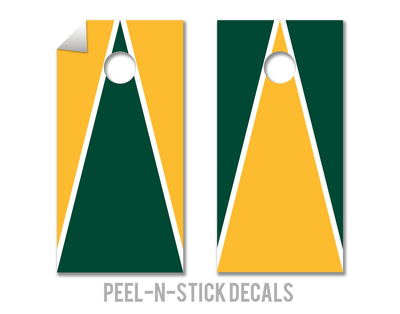 Green & Gold Design - Cornhole Crew - ACA Regulation Size Cornhole Board Decals by The Cornhole Crew