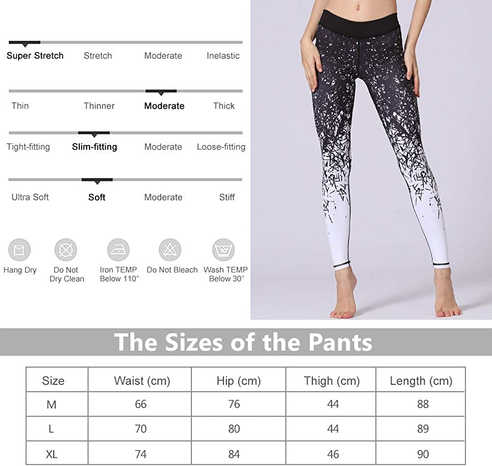Black lesbians in yoga pants Ulstar Yoga Pants Women Stretch High Waist Print Yoga Tights Fitness Leggings For Women Clothing Accessories Women Urbytus Com