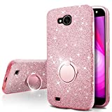 LG X Venture Case, LG X Calibur Case, LG V9 Case,Silverback Girls Bling Glitter Sparkle Cute Case With 360 Rotating Ring Stand, Soft TPU Outer Cover + Hard PC Inner Shell for LG Xventure -Rose Gold Review