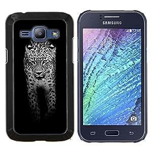 - leopard - - Cubierta del caso de impacto con el patr??n Art Designs FOR Samsung Galaxy J1 J100 J100H Queen Pattern