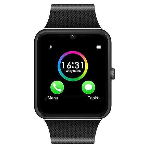 CHEREEKI Smartwatch Bluetooth Smart Watch Reloj Inteligente Teléfono Inteligente Pulsera con Cámara Pantalla Táctil Soporte SIM / TF para Android ...