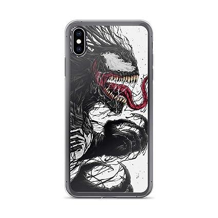 Amazon.com: Venom - Carcasa transparente antiarañazos para ...