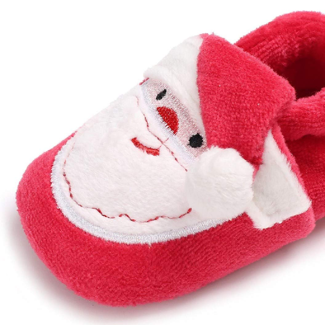 Newborn Baby Boys Girls Santa Claus Christmas Slippers Infant Toddler Winter Warm Boots Booties Shoes for 0-18 Month Auxma Baby Christmas Shoes