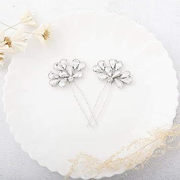 USA Bobby Pin Rhinestone Crystal Hair Clip Hairpin Elegant Silver Wedding Bridal