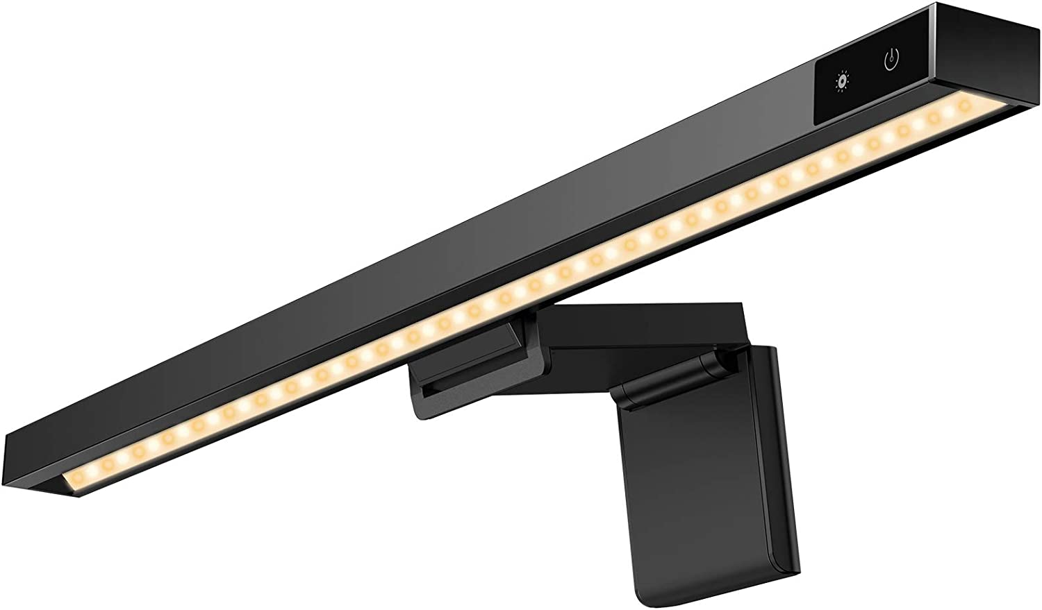 Computer Monitor Light, MJEMS Screen Light Bar e-Reading LED Task Lamp, 3 Color Modes LED Lights with Hue Adjustment Features, No Screen Glare, Matte Black USB Powered Office Lamp