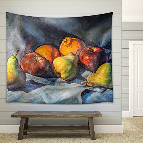 Oil Painting of a Fruit Composition Fabric Wall