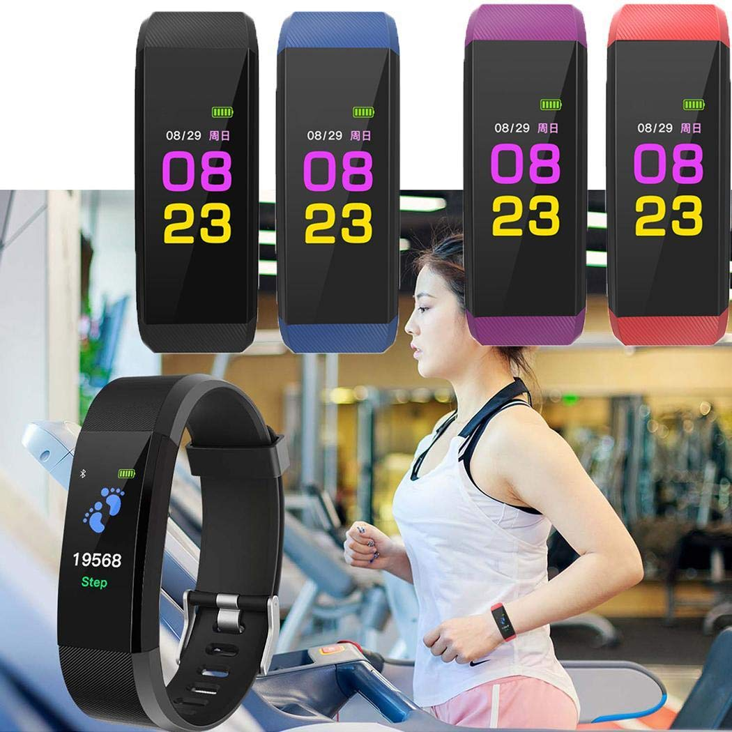 Sleep Monitor IP67 Waterproof Pedometer for Android and iOS Smartphone Kizaen Fitness Tracker Heart Rate Monitor Activity Tracker with Connected GPS Tracker Step Counter