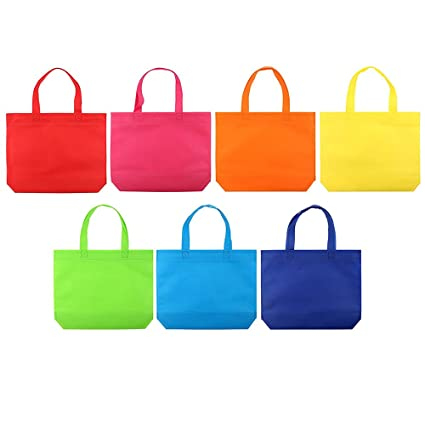 amazon com 24 pack party favor tote gift bags with handles for kids