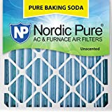 "Nordic Pure 24x24x4 (3-5/8 Actual Depth) Pure Baking Soda Odor Deodorizing AC Furnace Air Filters, 24"" x 24"" x 4"""