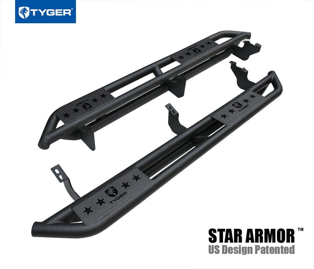 Tyger Auto TG-AM2T20148 Star Armor Kit for 2010-2019 Toyota 4Runner | | Textured Black | Side Step Rails | Nerf Bars | Running Boards