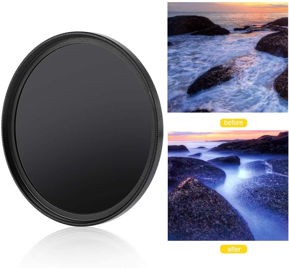Delaman Neutral Density Filter 62mm Ultra Slim Optical Glass Multiple Coated Neutral Density ND1000 ND Filter Photography Accessories for DSLR