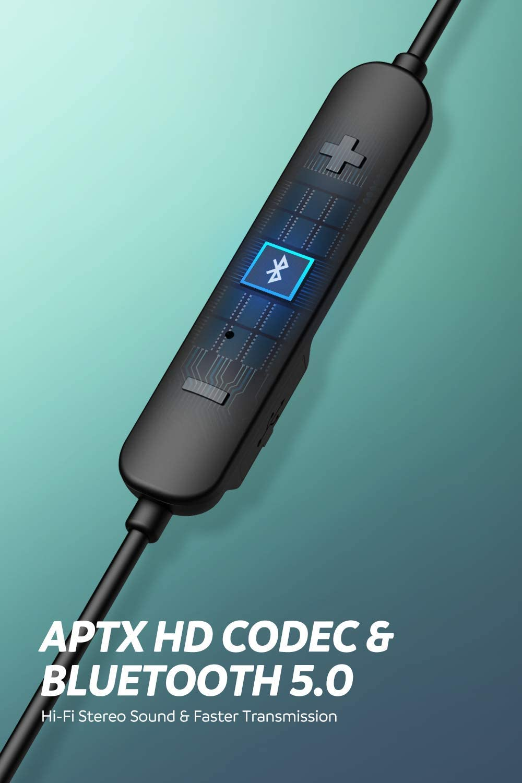 SoundPEATS Dual Treiber Bluetooth Kopfh/örer Sport Wireless Headset in Ear Wasserdicht IPX6 Dual Akku Bluetooth 5.0 Headset APTX HD Audio Mikrofon 22 Std Spielzeit f/ür alle Bluetooth Ger/äte