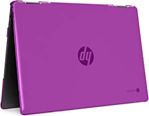 """mCover Hard Shell Case for 2020 14"""" HP Chromebook X360 14b-CAxxxx Series laptops (Purple)"""
