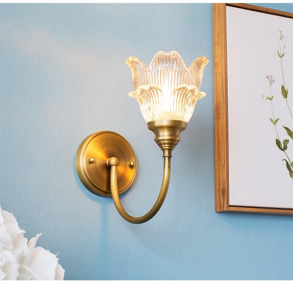 Unbekannt Met Love Kupfer Wandleuchte Nacht Einfache Kreative Blumen Gang Treppen Schlafzimmer Lichter kinderzimmer Hochzeit Zimmer Led Wandleuchte E14