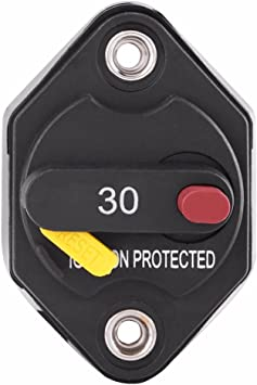 Amazon.com: Heart Horse 30 Amp Circuit Breaker Fuse Inverter with Manual  Reset Waterproof Inline Fuse Button Switch Holder for Truck RV Marine  Trailer Trolling Motors Auto Boat ATV 12V-48V DC: Industrial &Amazon.com