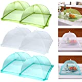 """Casolly HY 17""""x17"""" Pop-Up Mesh Screen Food Cover Tents-Keep Out Flies, Bugs, Mosquitos-Reusable and Collapsible(6 Pack), White"""