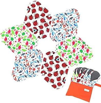 Amazon.com: Juego de 7 mini bolsas húmedas y 6 almohadillas ...