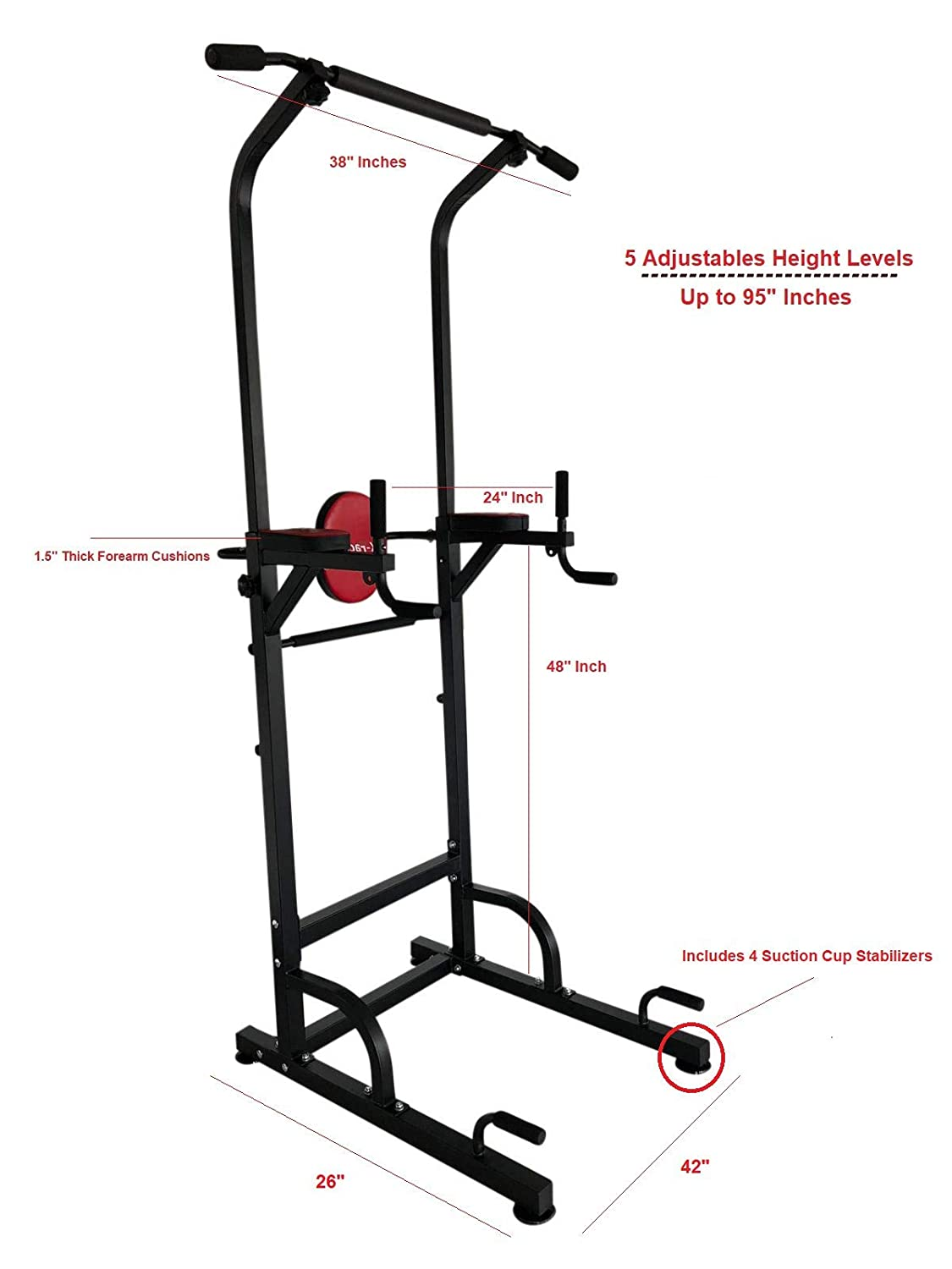 X Factor Chin Up Pull Up Multi Function Pull Up Dip Station VKR Power Tower  Sturdy Chin-Up Bar Stand