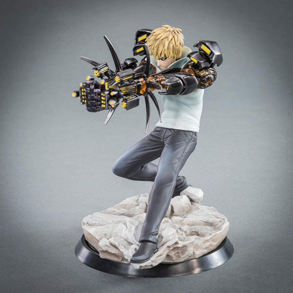 WHYWW One Punch Man Genos GK Carve Models PVC Anime Figure Statue Model Toys Ornaments Anime Figures 15cm-Figurine Animation Peripheral Model Collectables