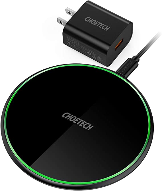 CHOETECH Cargador Inal/ámbrico R/ápido Wireless Quick Charger 10W para Samsung Galaxy S10 S9 S8 Plus S8 S7 Note8 Qi Inal/ámbrica Carga R/ápida 7.5W para iPhone 11//11 Pro//XS//XS MAX//XR//X//8 Plus// 8