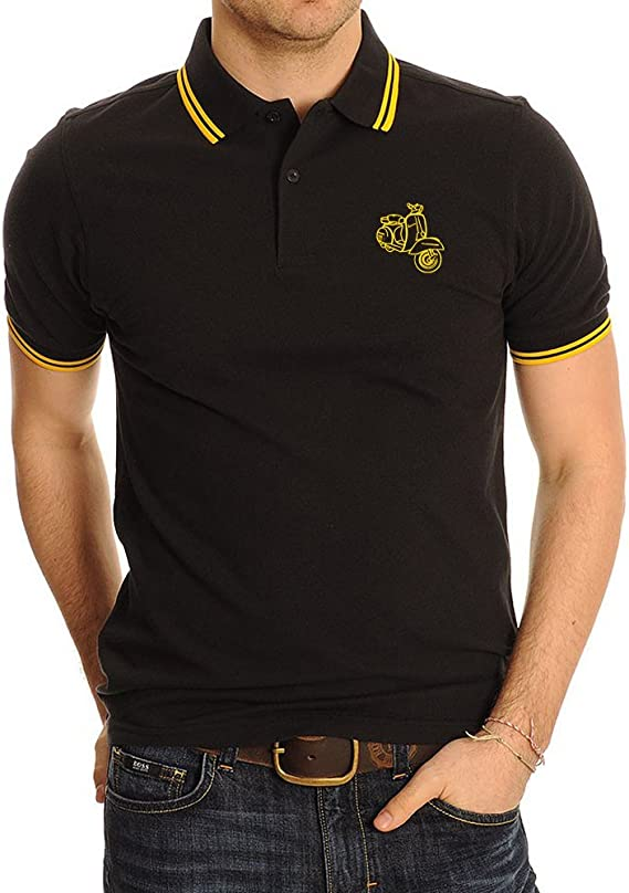 Vespa Scooter Top Quality Embroidered Polo Shirt - Polo para ...