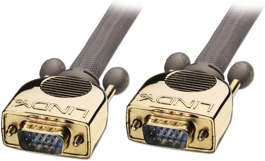 LINDY 1 m Gold VGA Monitor Cable Grey