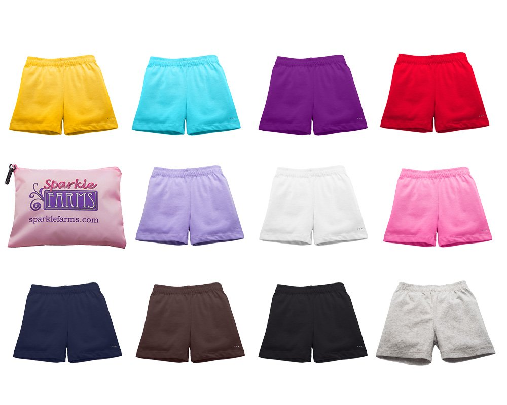 Sparkle Farms Girls Under Dress, Skirt, Uniform Shorts for Playground Modesty